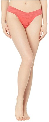 Hanky Panky Cotton With A Conscience Original Rise Thong (Black) Women's Underwear