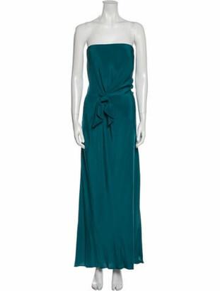 Issa Strapless Long Dress Blue