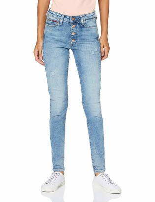 Tommy Jeans Women's Sylvia Hr Spr Skny Btn Fly Mmbd Trouser