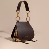 Burberry The Bridle in Leather and Haymarket Check