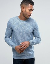 Pull&Bear Knitted Sweatshirt In Blue