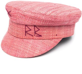 Ruslan Baginskiy Logo-Embroidered Straw Cap