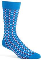 Lorenzo Uomo Men's Connections Geometric Socks