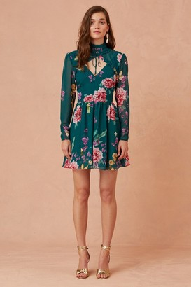 Keepsake ABOUT US LONG SLEEVE MINI DRESS jade botanic floral