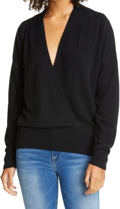 Frame Surplice Wool & Cashmere Sweater