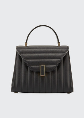 Valextra Iside Quilted Saffiano Leather Top-Handle Bag