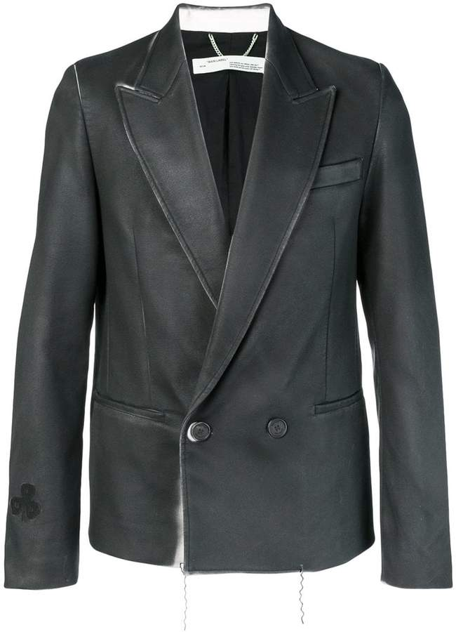 Off-White painted double breasted blazer