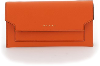Marni Logo Fold-Over Clutch Bag