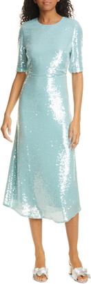 Veronica Beard Carlie Sequin Midi Dress