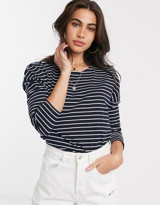 People Tree organic cotton stripe long sleeve top