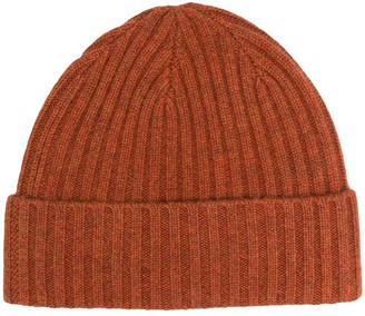 N.Peal Ribbed Cashmere Beanie Hat