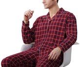 KM Pajamas KM Men Grid Long-sleeve Cotton Pajamas sets (4XL, )