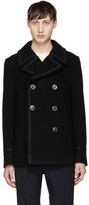 Marc Jacobs Black Wool Peacoat