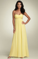 Strapless Chiffon Gown with Beaded Waist (Petite)
