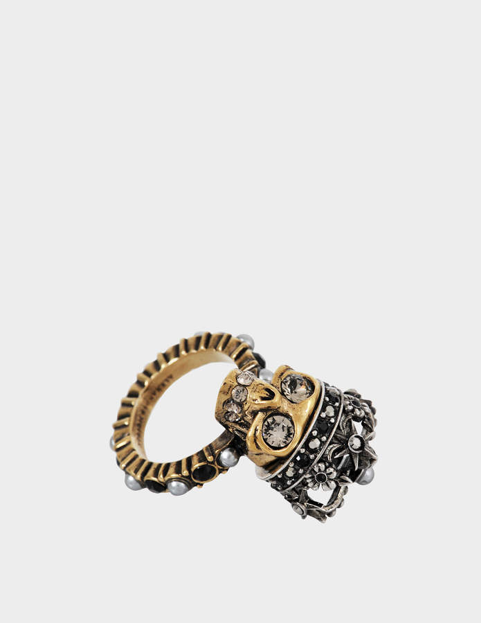 Alexander McQueen Skull King ring