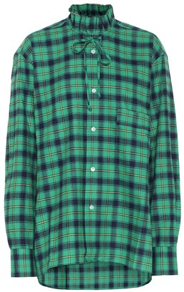 Plan C Checked cotton shirt