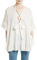 See by Chloe Women's Lace-Up Stretch Cotton Tunic