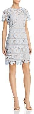 Eliza J Floral Guipure-Lace Dress