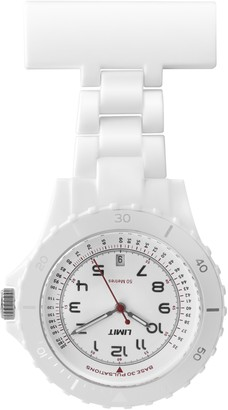 Limit Women Quartz Watch with White Dial Analogue Display and White Plastic Bracelet 6012.90