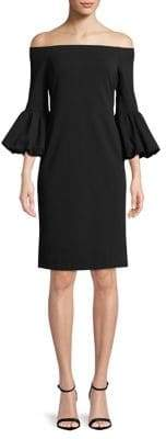 Eliza J Off The Shoulder Bell Sleeve Sheath Dress