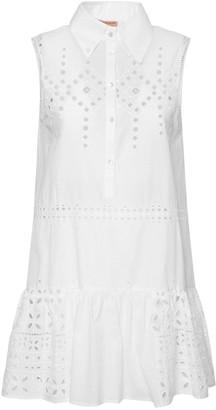 Ermanno Scervino Sleeveless Cotton Eyelet Mini Dress