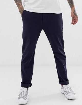 Levi's 502 tapered true chino trousers in nightwatch blue-Navy