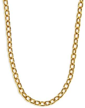 Elizabeth Locke Gold Orvieto Hammered 19K Yellow Gold Medium Oval-Link Chain Toggle Necklace