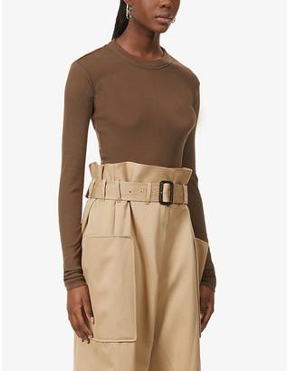BITE Studios Ribbed long-sleeved organic-cotton top