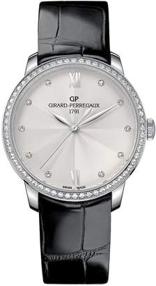 Girard Perregaux Stainless Steel and Diamond 1966 Watch 36mm