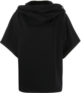 MSGM Rear Logo-Print Oversized Hoodie