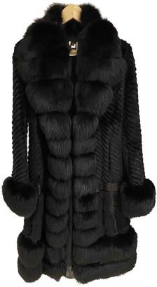 Roberto Cavalli Black Fox Coat for Women