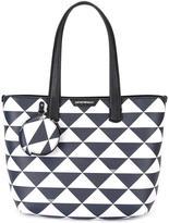 Emporio Armani triangles tote bag