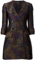 Yigal Azrouel jacquard double breasted coat dress