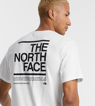 The North Face Message t-shirt in white Exclusive at ASOS