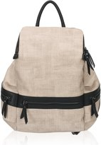 Hynes Victory Textured Backpack for Women Zip Casual Daypack Backpack Purse