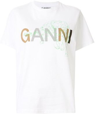 Ganni graphic logo print T-shirt