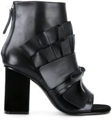 Emilio Pucci pleated detail ankle boots - women - Lamb Nubuck Leather - 36