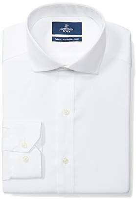 Buttoned Down Tailored Fit Cutaway-collar Solid Non-iron Dress Shirt /Pockets)