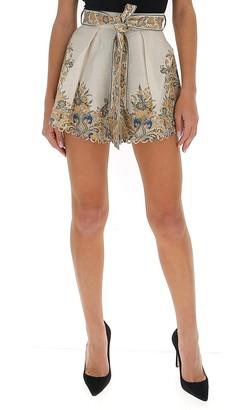 Zimmermann Freja Paisley High Waisted Shorts