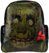 2buymore Custom School Bag Backpack Five Nights At Freddy Multi Pockets Backpacks PU Leather 20.1 Oz