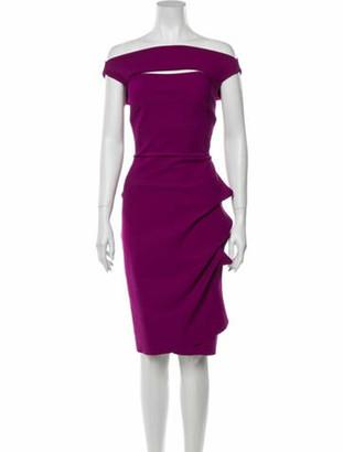Chiara Boni Off-The-Shoulder Knee-Length Dress w/ Tags Purple