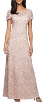 Alex Evenings Women's Lace A-Line Gown