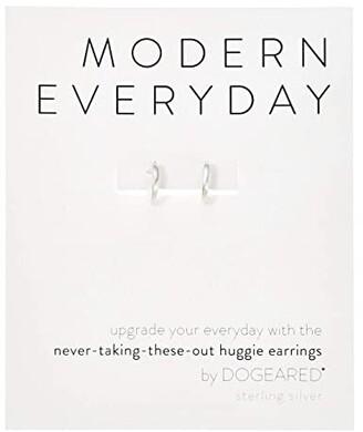 Dogeared Modern Everyday, Huggie Earrings (Sterling Silver) Earring