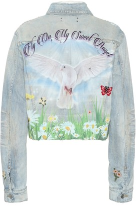 Amiri Oversized printed denim jacket