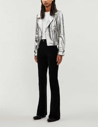 Paige Ashby metallic leather biker jacket