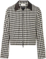 Wales Bonner checked zip front jacket
