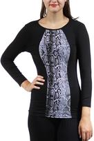 24/7 Comfort Apparel Snakeskin Printed Tunic