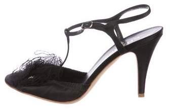 Chanel Camellia T-Strap Sandals
