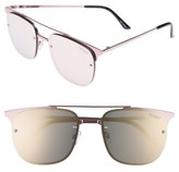 Quay Women's Private Eyes 55Mm Aviator Sunglasses - Gun/ Blue