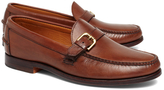 Brooks Brothers Rancourt & Co Calfskin Buckle Loafers